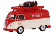 Oxford Diecast 76VWS007CC VW T1 Van With Rooftop Coca Cola Bottle Front And Side