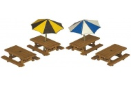 Metcalfe PN810 Picnic Tables N Gauge Card Kit