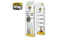 Ammo MIG7600 Figures Brush Set