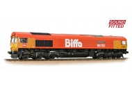 Bachmann Branchline 32-741SF Class 66/7 66783 'The Flying Dustman' GBRf 'Biffa' Red with Fitted Sound