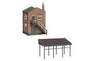 Bachmann Scenecraft 42-0088 N Gauge Industrial Store and Canopy