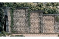Woodland Scenics C1259 OO Gauge Cut Stone Retaining Walls completed
