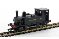 Dapol 4S-018-009 B4 0-4-0T 87 Southern Wartime Black Front Left