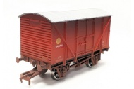Dapol DA4F-016-024 Banana Van BR Red B881722 Weathered