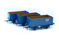Golden Valley Hobbies GV6016 3 pack 7 plank open wagons