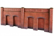 Metcalfe PO244 Retaining Wall In Red Brick