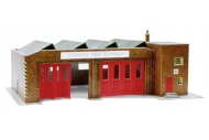 SuperQuick SQB34 Bus Depot / Fire Station / Hanger OO Gauge Card Kit