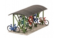 Wills Kits SS23 Bicycle Shed and Bicycles Plastic Kit
