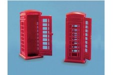 Modelscene 5006 Telephone Kiosks OO Gauge Plastic Kit