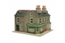 Metcalfe PO264 Corner Shop in Stone OO Gauge Card Kit