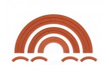 Wills Kits SS55 OO Gauge Brick Arch Overlays