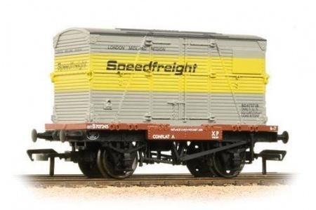 Bachmann 37-952 Conflat with BD Container Speedfreight