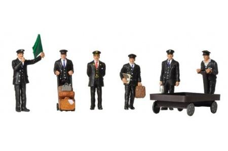 BACHMANN 36-404 STATION STAFF 1940/50S (6) FIGURE SET