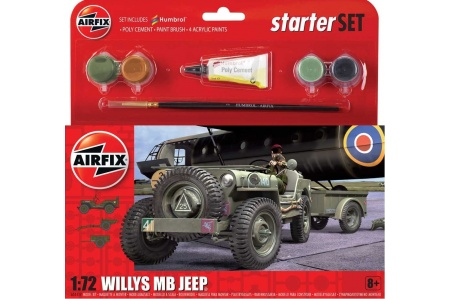 Airfix A55117 Small Starter Set Willys MB Jeep