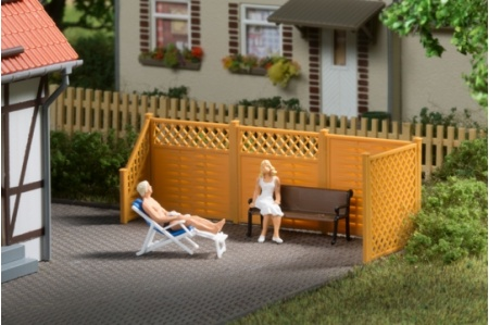 Auhagen 41648 Privacy Fence With Posts Examply Layout
