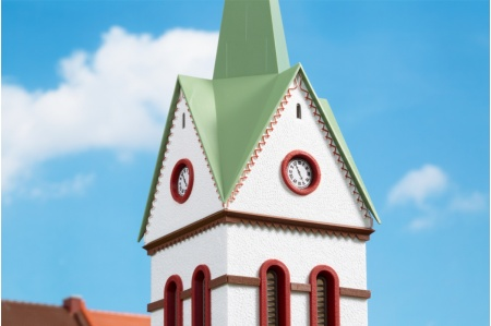 Auhagen 11370 Small Town Church Kit spire detail
