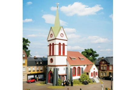 Auhagen 11370 Small Town Church Kit For HO/OO Gauge Model Railways