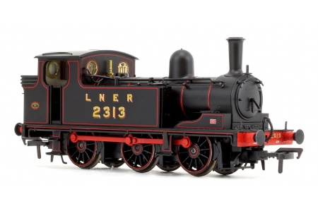 Bachmann 31-060 LNER J72 Class LNER Lined Black 0-6-0 Tank Locomotive No. 2313 Front Right