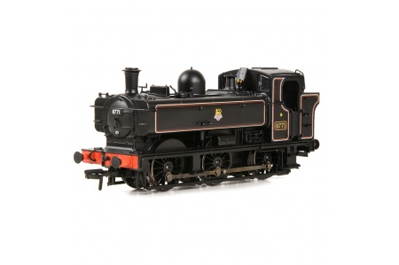 Bachmann 32-205A GWR 8750 Pannier Tank 8771 BR Lined Black (Early Emblem) (No.8771) Left Side