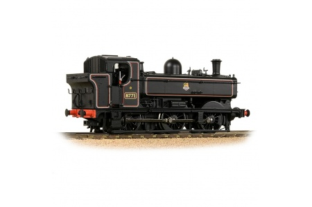 Bachmann 32-205A GWR 8750 Pannier Tank 8771 BR Lined Black (Early Emblem) (No.8771) Right Side