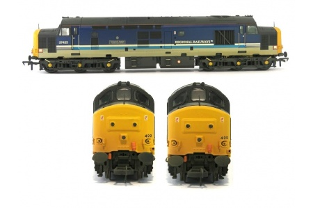 Bachmann 32-376A Class 37 422 Robert F Fairlie Regional Railways Diesel Locomotive Front Back Side