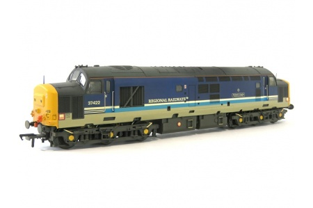 Bachmann 32-376A Class 37 422 Robert F Fairlie Regional Railways Diesel Locomotive Front Left