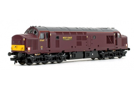 Bachmann 32-395DS Class 37/5 Refurbished 37669 West Coast Railways WCRC Maroon Diesel Locomotive With DCC Sound