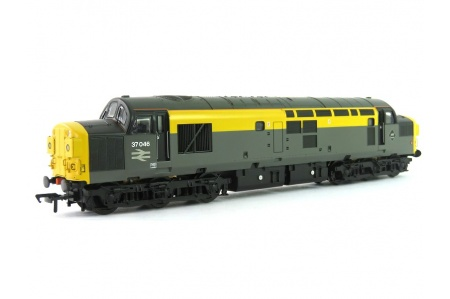 Bachmann 32-792 Class 37/0 37046 BR Grey And Yellow Dutch Split Headcode Diesel Locomotive Front Left
