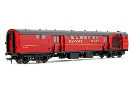 Bachmann 39-421B BR Mk1 POS Post Office Sorting Van Post Office Red With Nets Front Left