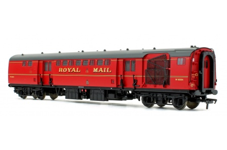 Bachmann 39-421B BR Mk1 POS Post Office Sorting Van Post Office Red With Nets Rear Left