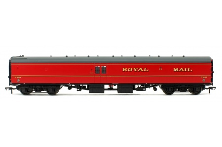 Bachmann 39-421B BR Mk1 POS Post Office Sorting Van Post Office Red With Nets Right Side