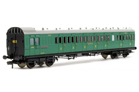 Bachmann 39-603 SE And CR 60ft Birdcage Brake Third Lavatory SR Malachite Green Front Left