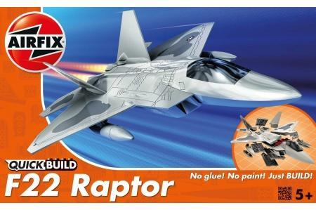 AIRFIX J6005 QUICK BUILD F22 RAPTOR MODEL PLANE KIT pic1