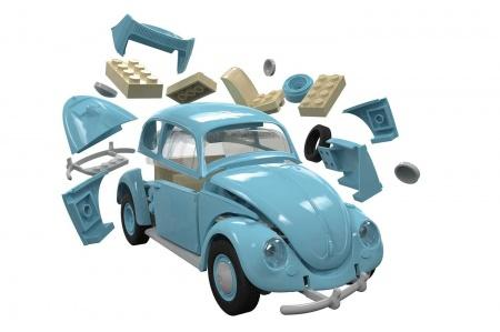 Airfix J6015 Quick Build VW Beetle Exploded