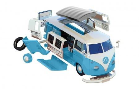 Airfix J6024 Quick Build VW Blue Camper Van 3