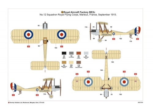 airfix a02104 royal aircraft factory be2c scout plan view2