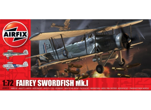 Airfix A04053 Fairey Swordfish MK1 1:72 Scale Model Aircraft Kit