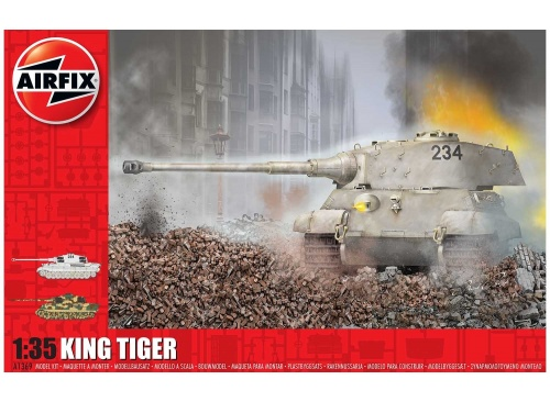 Airfix A1369 King Tiger 1:35 Scale Plastic Model Tank Kit Package