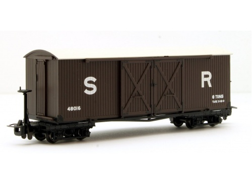 Bachmann Narrow Gauge 393-028 Covered Goods Wagon In SR Brown Livery