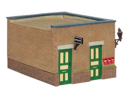 Bachmann 44-090G Bluebell Waiting Room And Toilet Green And Cream Toilet Block