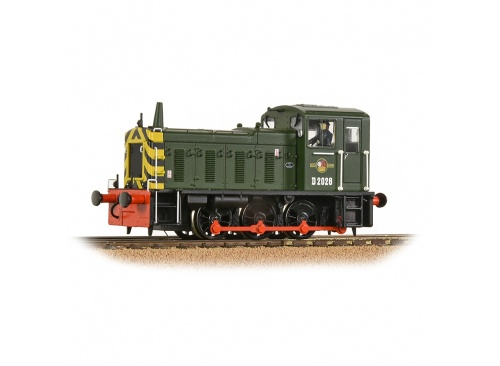 Bachmann 31-361B D2028 BR Green With Wasp Stripes Diesel Shunter Locomotive Front Left