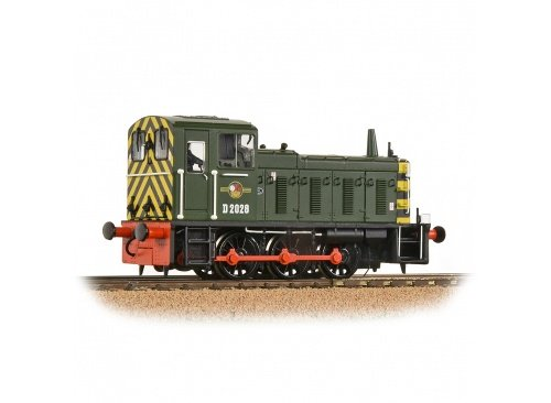 Bachmann 31-361B D2028 BR Green With Wasp Stripes Diesel Shunter Locomotive Front Right
